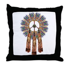 Cute Native american symbol Throw Pillow