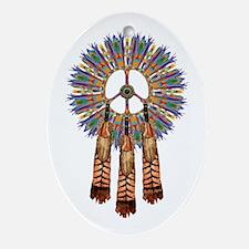 Cute Native american symbol Oval Ornament
