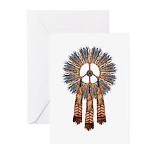 Cute Native american peace Greeting Cards (Pk of 10)