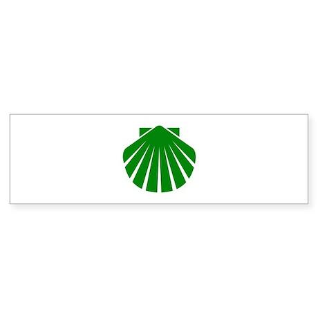 Green Scallop Bumper Sticker
