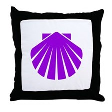 Purple Scallop Throw Pillow