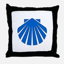 Blue Scallop Throw Pillow