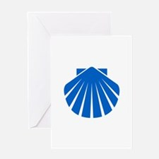 Blue Scallop Greeting Card