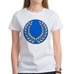 Blue with silver laurel Women's T-Shirt