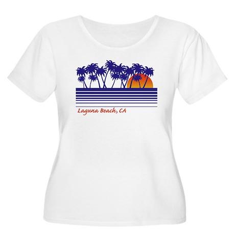 Laguna Beach, CA Women's Plus Size Scoop Neck T-
