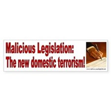 Malicious Legislation (sticker)