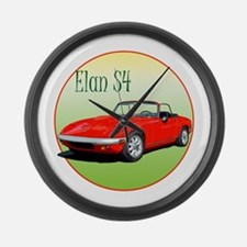 The Avenue Art Red Elan S4 Large Wall Clock