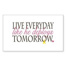 Live Everyday... Rectangle Decal