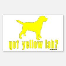 got yellow lab? Rectangle Sticker 10 pk)