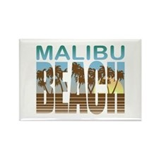 Malibu Beach Rectangle Magnet