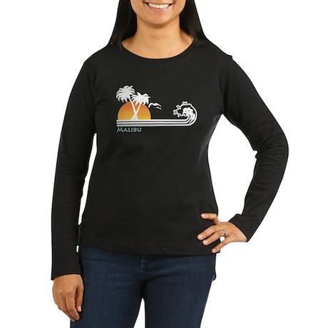 Malibu Women's Long Sleeve Dark T-Shirt