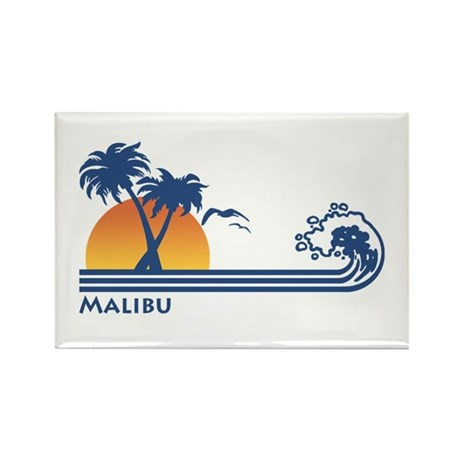 Malibu Rectangle Magnet