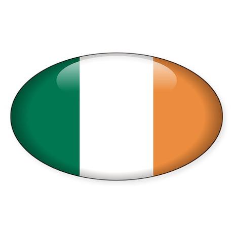 Ireland Oval Sticker (50 pk)