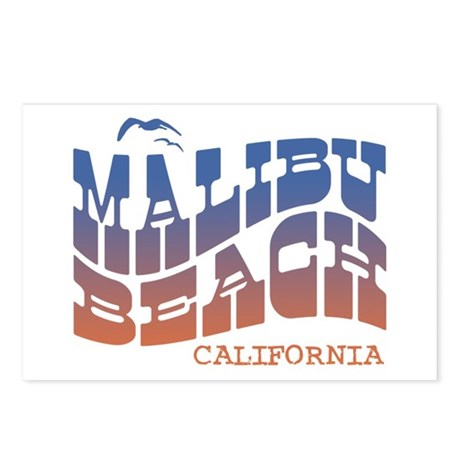 Malibu Beach California Postcards (Package of 8)