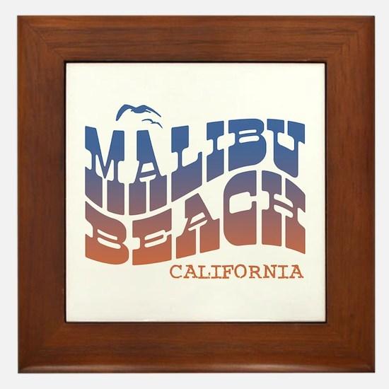 Malibu Beach California Framed Tile