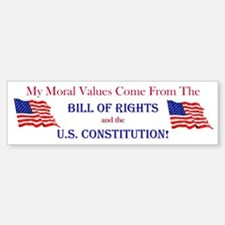 Moral Values Bumper Bumper Bumper Sticker