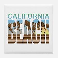 California Beach Tile Coaster