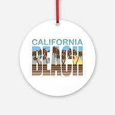 California Beach Ornament (Round)