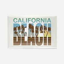 California Beach Rectangle Magnet
