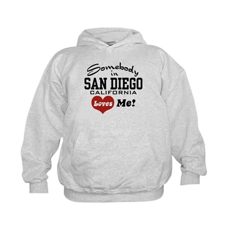 Somebody In San Diego Loves Me Kids Hoodie