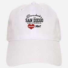 Somebody In San Diego Loves Me Baseball Baseball Cap