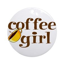 Coffee Girl Ornament (Round)