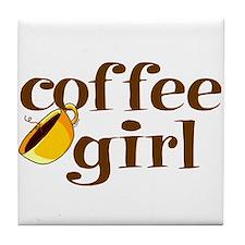 Coffee Girl Tile Coaster