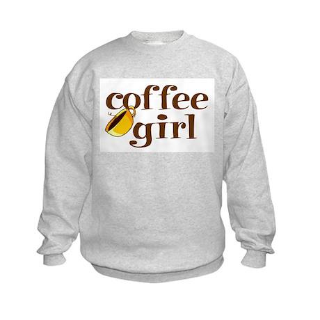 Coffee Girl Kids Sweatshirt