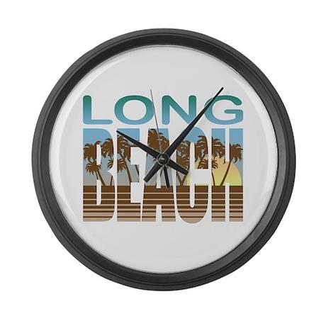 Long Beach Large Wall Clock