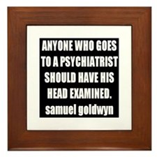 goldwyn quote Framed Tile