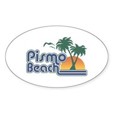 Pismo Beach Oval Decal