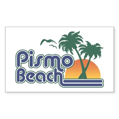 Pismo Beach Rectangle Sticker