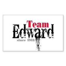 Team Edward Since 1918 Rectangle Decal