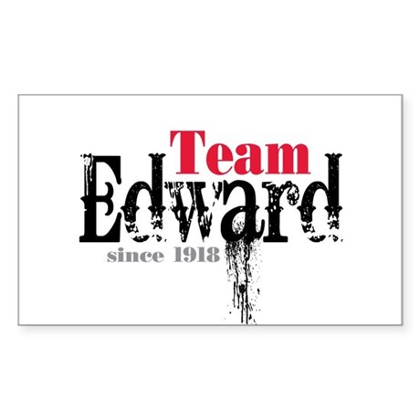 Team Edward Since 1918 Rectangle Sticker