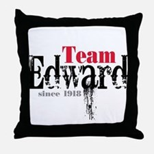 Team Edward Since 1918 Throw Pillow
