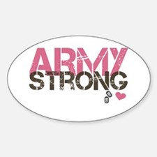 Army Strong Oval Decal