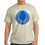 Blue with silver laurel Ash Grey T-Shirt