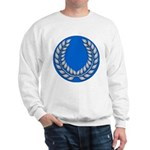 Blue with silver laurel Sweatshirt