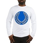 Blue with silver laurel Long Sleeve T-Shirt