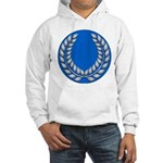 Blue with silver laurel Hooded Sweatshirt