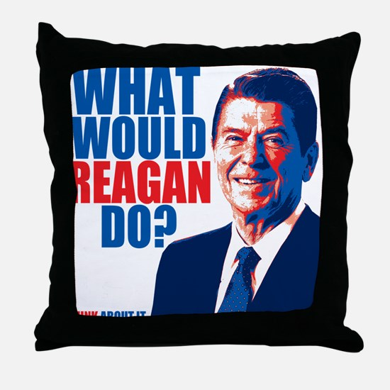 What Would Reagan Do? Design Throw Pillow