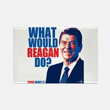 What Would Reagan Do? Design Rectangle Magnet
