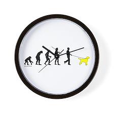 Yellow Lab Evolution Wall Clock