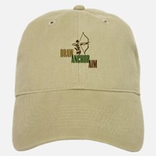 Draw. Anchor. Aim. Baseball Baseball Cap