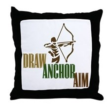 Draw. Anchor. Aim. Throw Pillow