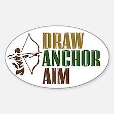 Draw. Anchor. Aim. Oval Decal