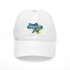 Map Of Ukraine Baseball Cap