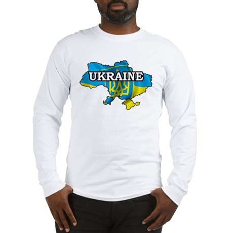 Map Of Ukraine Long Sleeve T-Shirt