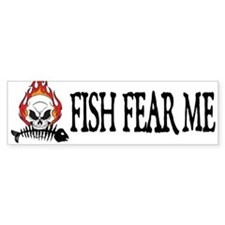 Fish Fear Me Bumper Bumper Sticker