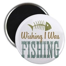 "Wishing I Was Fishing 2.25"" Magnet (10 pack)"